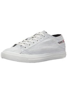 Diesel Women's Magnete Exposure IV Low W Treated Fashion Sneaker, White, 10 M US