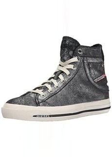 Diesel Women's Magnete Exposure IV W Fashion Sneaker, Black/Silver, 8.5 M US