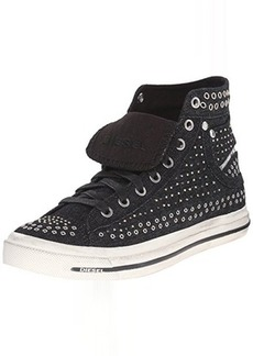 Diesel Women's Magnete Exposure IV W Studded Fashion Sneaker, Black, 7.5 M US