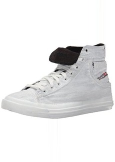 Diesel Women's Magnete Exposure IV W Treated Fashion Sneaker, White, 9 M US