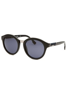 Diesel Women's Round Black Sunglasses