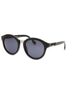Diesel Women's Round Black Sunglasses