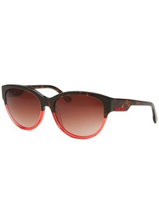 Diesel Women's Round Tortoise & Red Sunglasses
