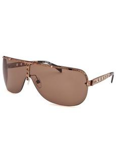 Diesel Women's Semi-Rimless Shield Gold-Tone Sunglasses
