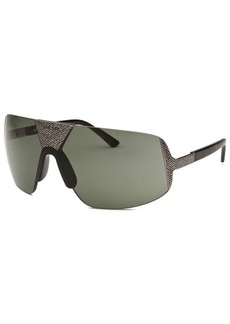 Diesel Women's Semi-Rimless Silver-Tone and Black Sunglasses