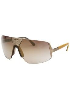 Diesel Women's Semi-Rimless Silver-Tone and Brown Sunglasses