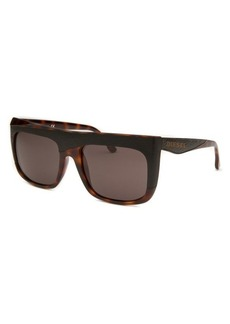 Diesel Women's Square Black and Havana Sunglasses