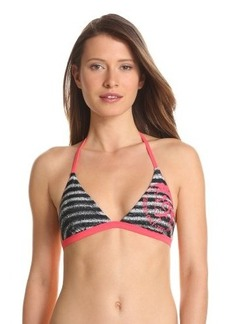 Diesel Women's Striped Print Calypso Triangle Top