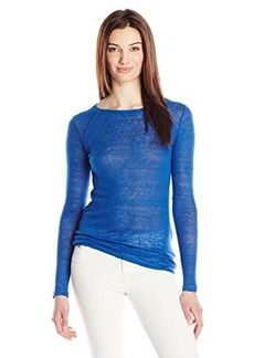 Diesel Women's T-Kari Washed Linen Jersey Long Sleeve Top