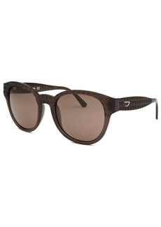 Diesel Women's Wayfarer Brown Transparent Sunglasses