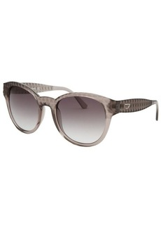 Diesel Women's Wayfarer Grey Transparent Sunglasses