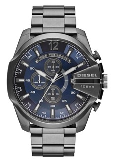 DIESEL® 'Double Down' Chronograph Bracelet Watch, 51mm