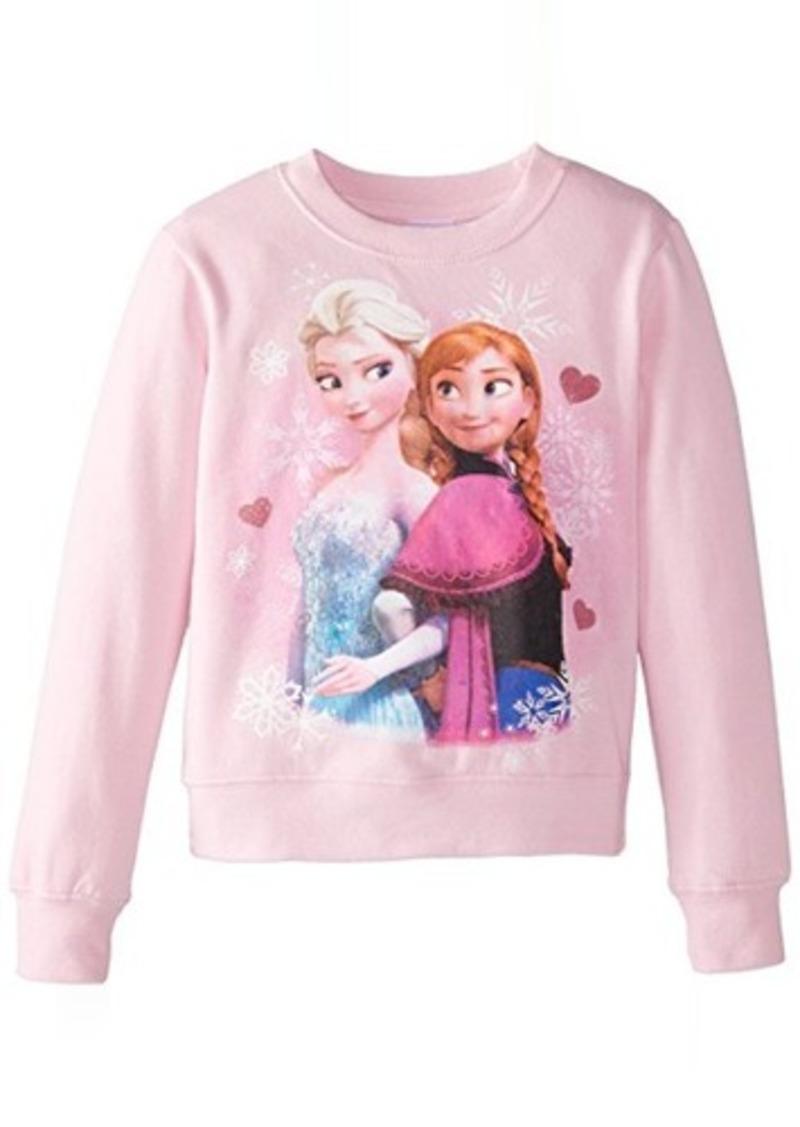 Disney Disney Frozen Little Girls Elsa And Anna Crew Neck