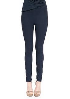 Bicolor Pull-On Ankle Pants, Deep Indigo   Bicolor Pull-On Ankle Pants, Deep Indigo