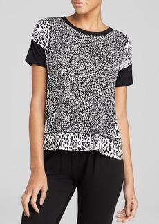 DKNY Animal Print Block Short Sleeve Sleep Tee
