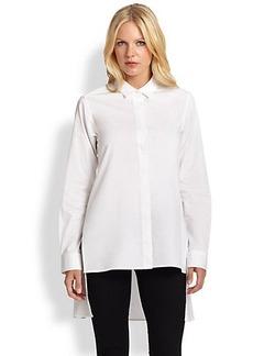 DKNY Button-Front Back-Peplum Shirt