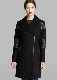 DKNY Coat - Ash Asymmetric Notched Collar
