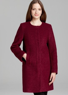 DKNY Coat - Boucle Collarless A Line