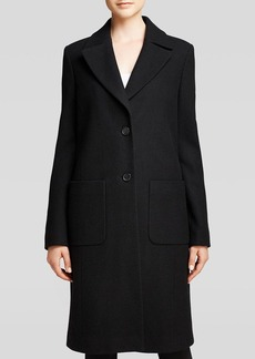 DKNY Brielle Notch Collar Reefer Coat