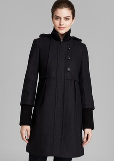 DKNY Coat - Colby Hooded Empire Waist