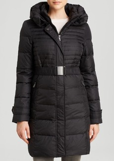 DKNY Coat - Macie Belted Double Collar