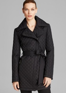 DKNY Coat - Quinn Asymmetrical Belted Trench