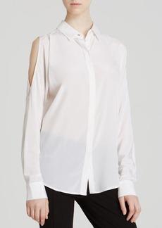 DKNY Cold Shoulder Long Sleeve Blouse