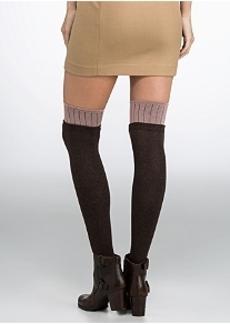 DKNY Color Block Over The Knee Socks