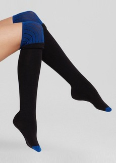 DKNY Colorblock Knit Over-the-Knee Socks