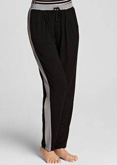 DKNY Colorblock Striped Modal Jersey Pants
