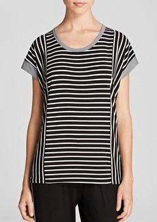DKNY Colorblock Striped Tee