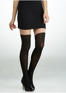 DKNY Contour Illusion Color Block Tights
