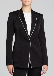 DKNY Contrast Piping Blazer