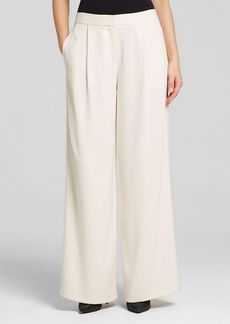 DKNY Crepe Wide Leg Trousers