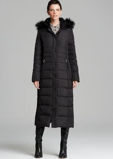 DKNY Down Coat - Faux Fur Trim Maxi