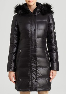 DKNY Down Coat - Sarah Faux Fur Hood