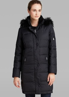 DKNY Down Coat - Sarah Faux Fur Trim