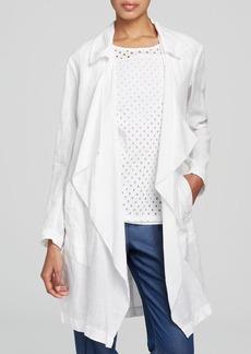 DKNY Drape Front Linen Coat - Bloomingdale's Exclusive
