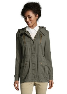 DKNY dusty olive toni washed cotton hooded anorak