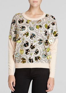 DKNY Embellished Crewneck Sweater
