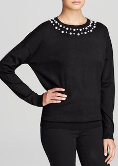 DKNY Exclusive Faux-Pearl Embellished Sweater