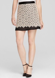 DKNY Floral Lace Skirt