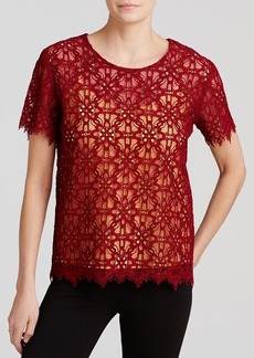 DKNY Floral Lace Tee