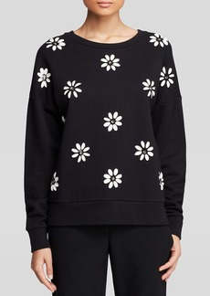 DKNY Floral Sequin Pullover