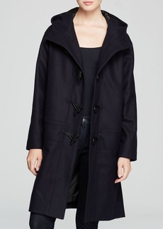 DKNY Hooded Toggle Closure Coat