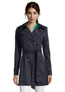DKNY ink cotton blend 'Abby' hooded trench