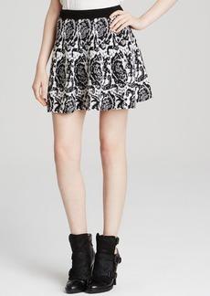 DKNY Lace Jacquard Mini Skirt
