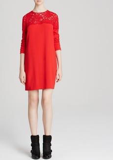 DKNY Lace Top Shift Dress