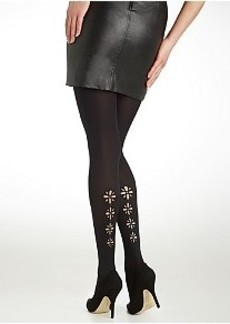 DKNY Laser Cut-Out Tights