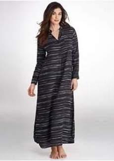 DKNY Long Sleeve Woven Caftan